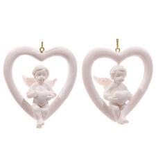 ONE HANGING CHERUB HEART - GIFT - ANGELS - CHERUBS - CUTE - ORNAMENT - FIGURINE