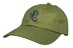 SANTA CRUZ - Screaming Hand / Outline Hand Olive  - Skateboard Hat, Skate Cap