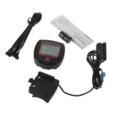 Bicycle Bike Cycling Computer LCD Odometer Speedometer Stopwatch Speed meter HH