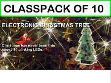 (PACK OF 10) MUSICAL Christmas Tree Kit w/Flashing LEDS and 3 Christmas Songs