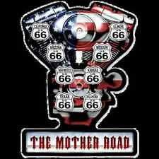 Metal Sign Route 66 The Mother Road (Harley-Davidson Engine) (40 x 52 cm)