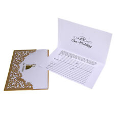 Our Wedding Invitations Laser Cut Design, Gold, 6-3/4-Inch, 8-Count