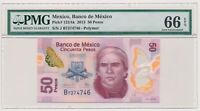MEXICO banknote 50 Pesos 2013 PMG MS 66 EPQ Gem Uncirculated grade