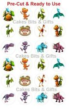 24 DINOSAUR TRAIN Edible Wafer Cupcake Toppers PRE-CUT Ready to Use