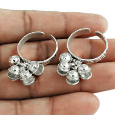 Silver Toe Ring Size Adjustable V41 Handmade Indian Jewelry 925 Solid Sterling