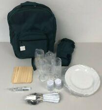 Picnic Bag Rucksack For Four Green NEW   HG32