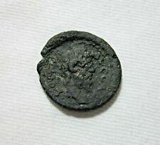 MACEDONIA, CASSANDREA. AE 21. SEPTIMIUS SEVERUS, 193-211 AD. ZEUS AMMON REVERSE