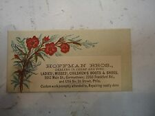 Hoffman Bros. Dealers In Cheap And Fine Boots  Philadelphia PA Trade Card