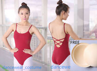 Adult Ladies Camisole Ballet Dance Gymnastics Leotard Garment Tight Unitards 7CO