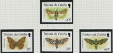 Tristan da Cunha 1990 Moths set sg490-493 MNH