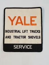 RARE LARGE VINTAGE YALE INDUSTRIAL LIFT TRUCKS & TRACTOR SHOVELS SERVICE PATCH