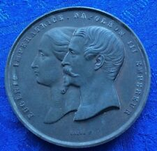 MEDAILLE D EUGENIE IMPERATRICE & NAPOLEON III EMPEREUR PAVILLON NORD
