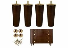 One Sight Wood Furniture Legs Set of 4 for Couch Cabinet Chair Brown OPEN BOX