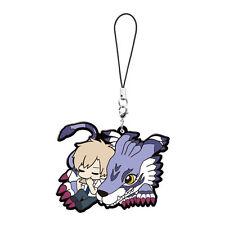 Digimon Adventure Mascot PVC Keychain Charm ~ Yamato Ishida & Garurumon @11312
