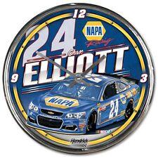 "Chase Elliott 2017 Wincraft #24 NAPA 12"" Chrome Round Clock FREE SHIP!"