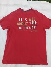 MENS FAT FACE FATFACE T SHIRT IT'S ALL ABOUT THE ALTITUDE SIZE XL RED COTTON