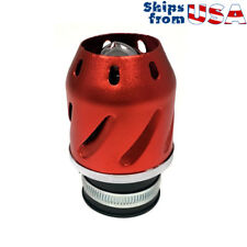 """38mm Universal fit """"Bullet"""" Air Filter - Motorcycle Scooter Pocket Bike - Red"""