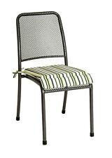 Alexander Rose Portofino Seat Pad Garden Chair Cushion Lime Green Stripe
