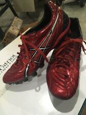Asics Lethal Stats SK Red + Silver Soccer Cleats sz 13 mens EU 48 club sports