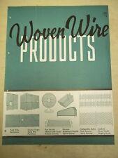 Vtg Woven Wire Products Association Brochure~Grilles/Diamond Mesh~Catalog~1946