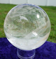 Water Clear Quartz Crystal Sphere Ball Madagascar Spectacular Dazzling Beauty