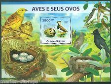 GUINEA BISSAU  2013  BIRDS AND THEIR EGGS  SOUVENIR SHEET MINT NH