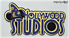 CRAFTECAFE HOLLYWOOD DISNEY TITLE Premade paper piecing scrapbook diecut page 3D