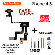 NUOVO Ricambio ON / OFF POWER / Blocca / pulsante / switch Cable + strumenti gratuiti per iPhone 4S