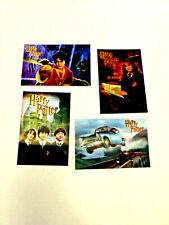 Vtg Harry Potter Hologram Movie Card 2002 Chamber of Secrets Complete Set of 4