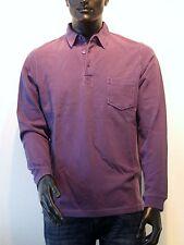 Heine Camiseta polo manga larga talla 44 violeta NUEVO