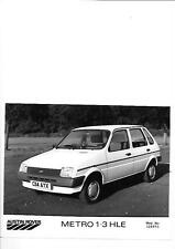 AUSTIN ROVER METRO 1.3 HLE PRESS PHOTO 'C' REGISTERED 'BROCHURE CONNECTED'