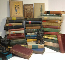 Lot of 10 ANTIQUE Old Vintage Books Collection Set UNSORTED MIXED all hardcover