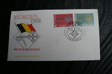 Ersttagsbrief Belgien Europa Briefmarken vom 27.4.1968
