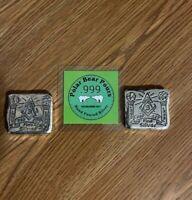 2XPolar Bear Pours 3 Troy Oz . FREE MASON FIRST RUN! 999 Hand Poured Silver Bar