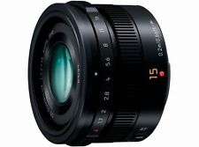 Panasonic LEICA 15mm F1.7 ASPH Lens H-X015 Black  Japan Domestic Version New