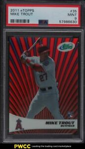 2011 eTopps Mike Trout ROOKIE RC /999 #35 PSA 9 MINT