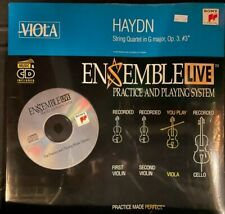Viola: Ensemble Live String Quartet Haydn Op. 3, #3 G Major Cd with Sheet Music