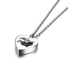 CREMATION JEWELRY ASHES URN PENDANT KEEPSAKE MEMORIAL NECKLACE LOCKET FOR PET