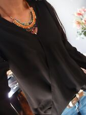 Long Bluse S M Neu Schwarz 36 Blogger Musthave Bluse Trend Tunika Jumper Vintage