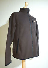Timberland Interactive Fleece Jacket Mens Size L Chocolate Brown Zipped Pockets
