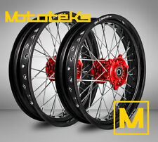 HONDA SUPERMOTO WHEELS FOR CRF250 CRF450 CRF450R CR250R ANY RIM/HUB COLOR COMBO