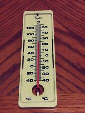 """Vintage Taylor Thermometer Indoor Outdoor Very Nice 7 5/8"""""""