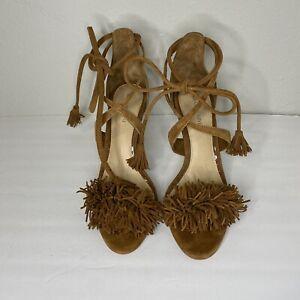 Gianni Bini Brown Suede High Heel Women's Shoes Size 7.5M