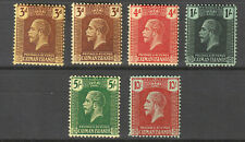 CAYMAN ISLANDS 1921-26 SG 60-67 FINE LMM SET OF 6 WITH SHADE ON 3d CAT 130
