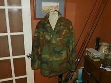 Cold Weather Field Coat - Woodland Camouflage Pattern Men's size Small Regular