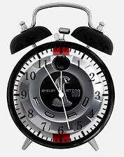"Mustang Cobra GT Alarm Desk Clock 3.75"" Home or Office Decor W202 Nice Gift"
