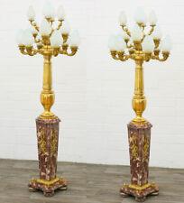 MARMOR STEHLAMPEN als PAAR, red MARBLE LAMPS ca.240cm MONUMENTAL 2-er SET LAMPEN
