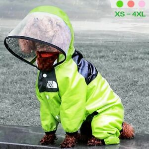 Pet Dog Raincoat The Dog Face Pet Clothes Jumpsuit Waterproof Dog Jacket DogsNew