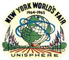 1964 - 1965   New York World's Fair     Vintage Looking   Travel Decal Sticker