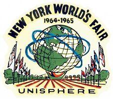 1964 - 1965   New York World's Fair     Vintage Looking   Travel Decal Sticker